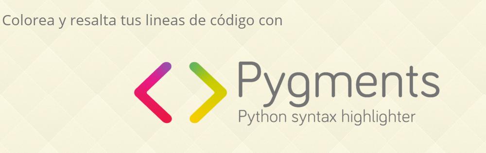 Resalta tu código con Pygments